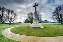 Brytyjski i wspólnoty narodów Wojenny cmentarz w Bayeux, Francja Obraz Royalty Free