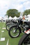 Brytyjski klasyczny motocyklu uszeregowanie Obrazy Stock
