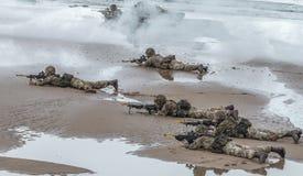 Brytyjski Królewski Morski desantowiec Zdjęcia Royalty Free