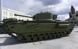 Brytyjski miotacza zbiornika Mk IV Churchill krokodyl w muzeum militarny wyposażenie obraz royalty free