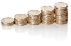 Brytyjski monet sterta Obrazy Royalty Free