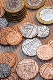 Brytyjski monety - Zjednoczone Królestwo obraz royalty free