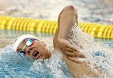 Brytyjski pływaczki James facet Zdjęcia Royalty Free