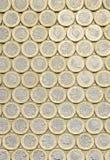 Brytyjski pieniądze, nowy funtowych monet tło kłaść mieszkanie Zdjęcia Stock