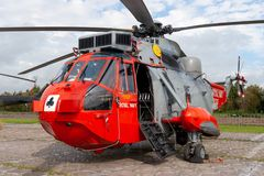 Brytyjski royal navy Sea King helikopter fotografia royalty free