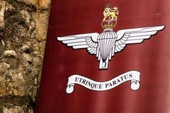 Brytyjski Spadochronowy pułku emblemat fotografia royalty free