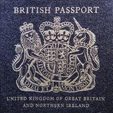 brytyjski stary paszport Obraz Royalty Free