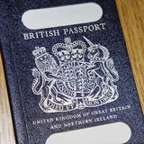 brytyjski stary paszport Fotografia Royalty Free