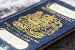 brytyjski stary paszport Obrazy Royalty Free