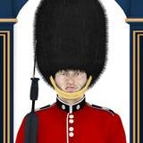Brytyjski strażnik - Śmieszna twarz royalty ilustracja