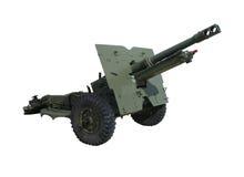 Brytyjski WW2 25 pounder śródpolny pistolet lub artyleryjski kawałek Obraz Stock