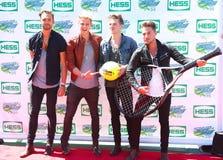 Brytyjski wystrzału zespół rockowy Lawson uczęszcza Arthur Ashe dzieciaków dzień 2013 przy Billie Cajgowego królewiątka tenisa Kra zdjęcia royalty free