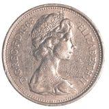 5 brytyjskich centów monet Obrazy Royalty Free