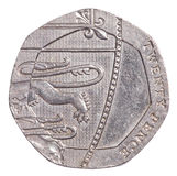 20 brytyjskich centów monet Zdjęcie Royalty Free