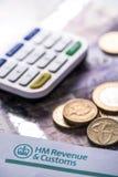 2016 Brytyjskich zwrotów podatku przypomnień Obraz Stock