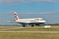 brytyjskie A320 drogi oddechowe Airbus Fotografia Stock