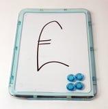 brytyjskiego funta znaka whiteboard Zdjęcie Stock