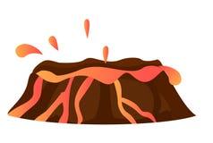 Bryzgać Gorącą lawę w wulkan Odosobnionej erupci Zdjęcia Stock