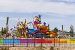 Bryzga wyspę przy Moczę n Dziki, w Las Vegas, NV na Kwietniu 24, 2013 Zdjęcia Royalty Free