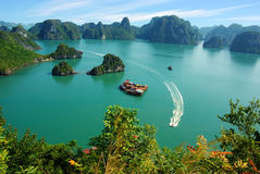 brzęczenie podpalany krajobraz długi malowniczy denny Vietnam Fotografia Stock