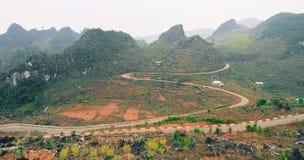 Brzęczenia Giang górzysty region w Wietnam Fotografia Royalty Free