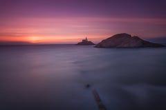 Brzask przy bełkot latarnią morską Fotografia Stock