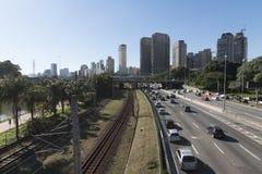 Brzeżna Pinheiros autostrada Obraz Stock