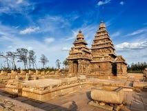 Brzeg świątynia - światowego dziedzictwa miejsce w Mahabalipuram, tamil Nad fotografia stock