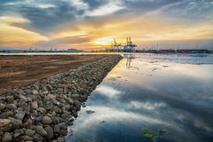 Brzeg blisko Djibouti portu Obraz Stock