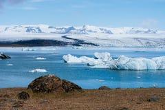 Brzeg glacjalna laguna w Iceland Obraz Royalty Free