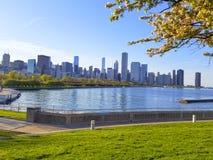 Brzeg jeziora ścieżka Chicago obrazy stock