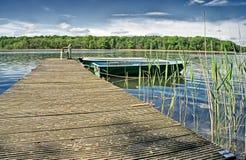 Brzeg jeziora Obrazy Royalty Free