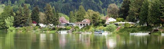 brzeg jeziora własność wa las Obraz Royalty Free