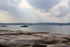 Brzeg Jeziorny Garda Fotografia Royalty Free