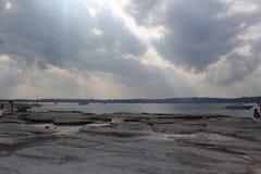 Brzeg Jeziorny Garda Zdjęcie Royalty Free