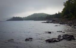 brzeg jeziorny północny przełożony Obrazy Stock
