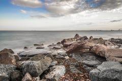 Brzeg Jeziorny przełożony Zdjęcie Stock