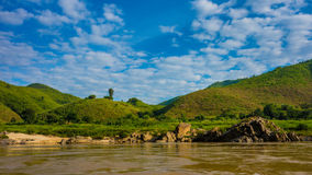 Brzeg Można Mekong rzeka Zdjęcie Stock