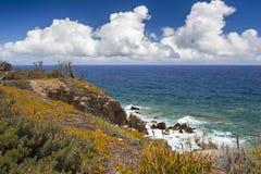 Brzeg morze egejskie w Crete Obrazy Royalty Free