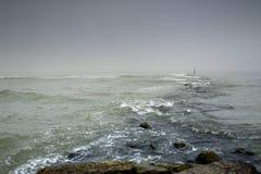 brzeg nadchodząca burza Zdjęcie Royalty Free