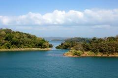 Brzeg Panamski kanał fotografia stock