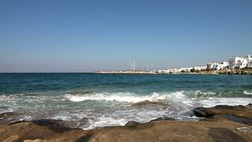 Brzeg Paros wyspa zbiory wideo