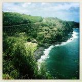 Brzeg przy Wailuku w Maui obrazy stock