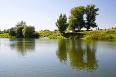 brzeg rzeki Zdjęcia Stock