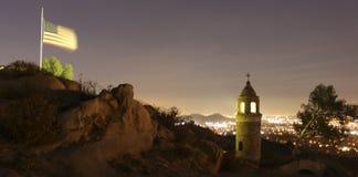 BRZEG RZEKI, CA - Mt Rubidoux Obrazy Stock