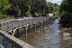 Brzeg rzeki most na Rzecznym Thames Zdjęcie Stock