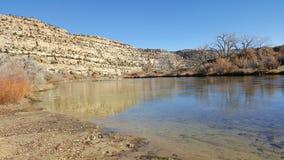 Brzeg rzeki na San Juan rzece Obrazy Stock