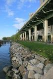 Brzeg rzeki Parkowi południe Zdjęcia Royalty Free