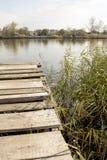 Brzeg rzeki, rzeka krajobraz Zdjęcie Royalty Free