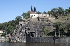 Brzeg rzeki Vltava Obrazy Royalty Free